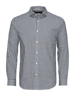 FORMEL SLIM FIT CHECKED LONG SLEEVED SHIRT
