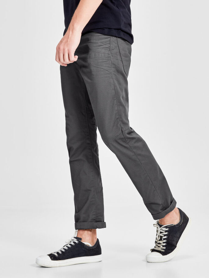 ANTI FIT CHINO, Charcoal Gray, large