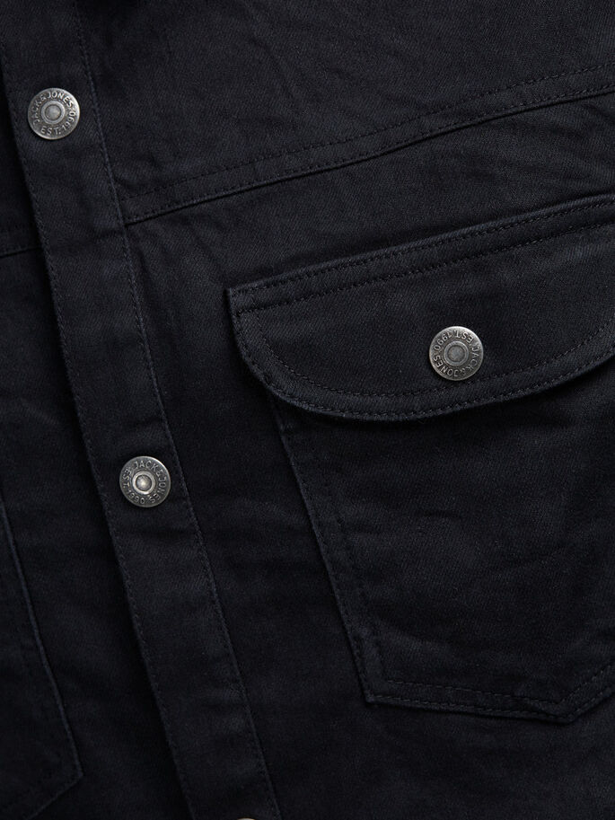 KLASSISK DENIMSKJORTE, Black Denim, large