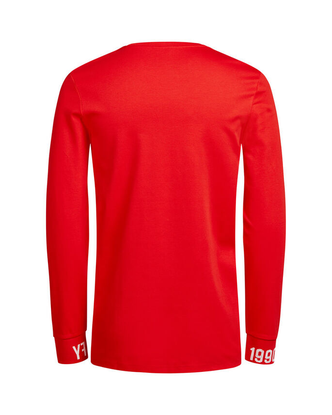 GRAFISK LÅNGÄRMAD T-SHIRT, Fiery Red, large
