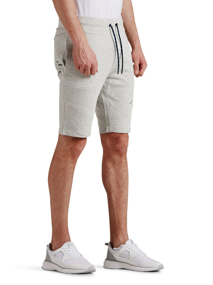 REGULAR FIT SWEATSHORTS, Treated White, large