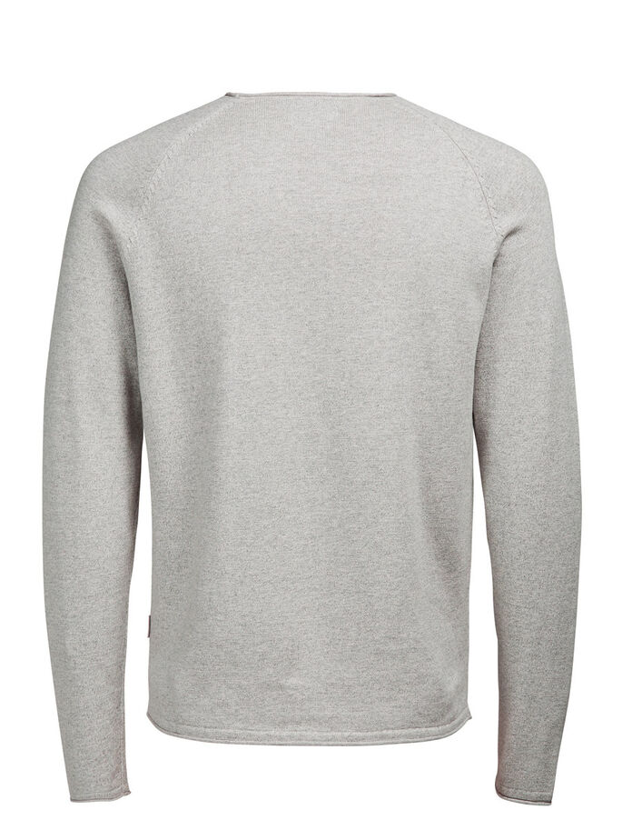 VEELZIJDIGE TRUI, Light Grey Melange, large