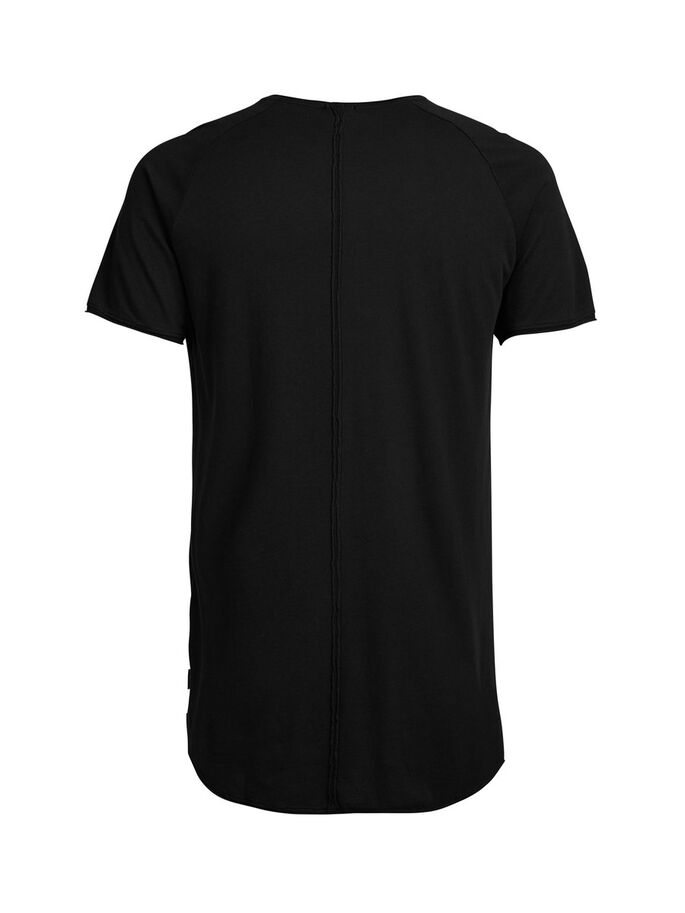 PLAIN REGULAR FIT T-SHIRT, Black, large