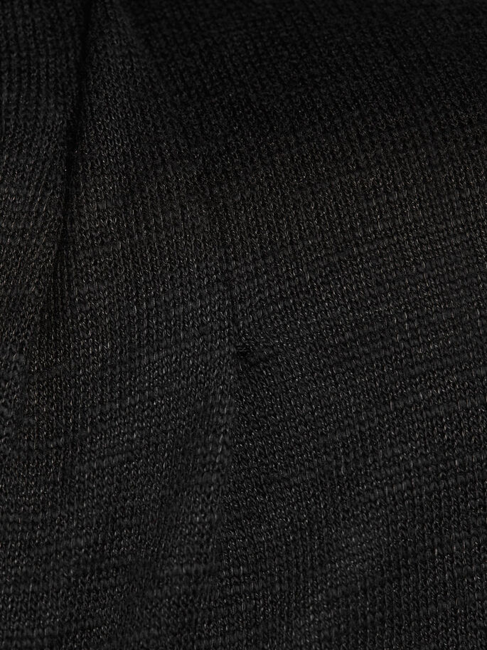 SHAWL NECK CARDIGAN, Black, large