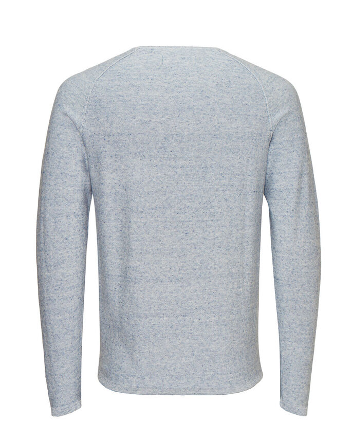 MELANGE CREWNECK- STRICKPULLOVER, China Blue, large
