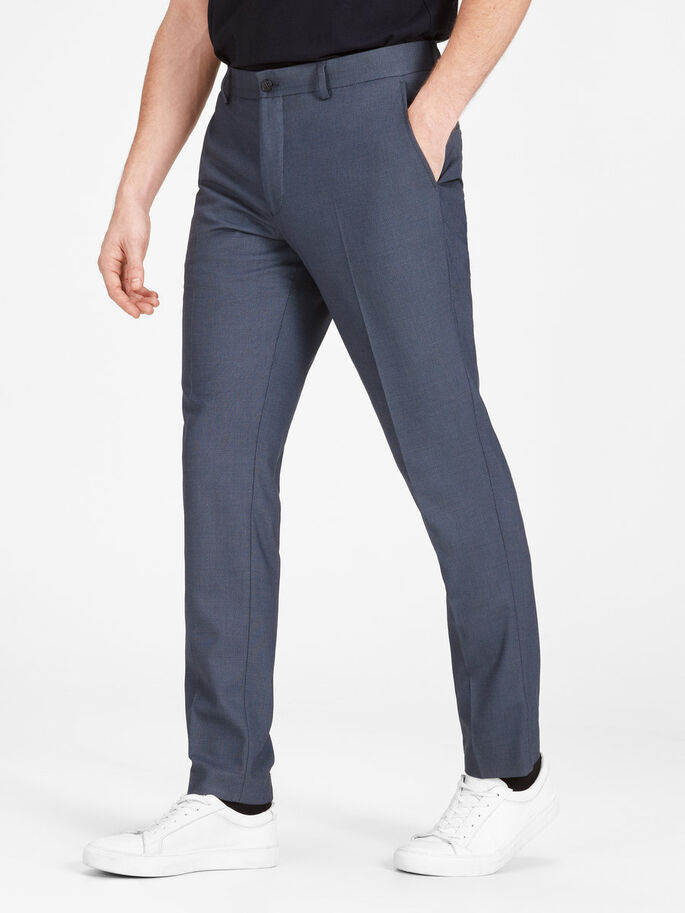 EINFARBIGE WEB- HOSE, Dark Navy, large