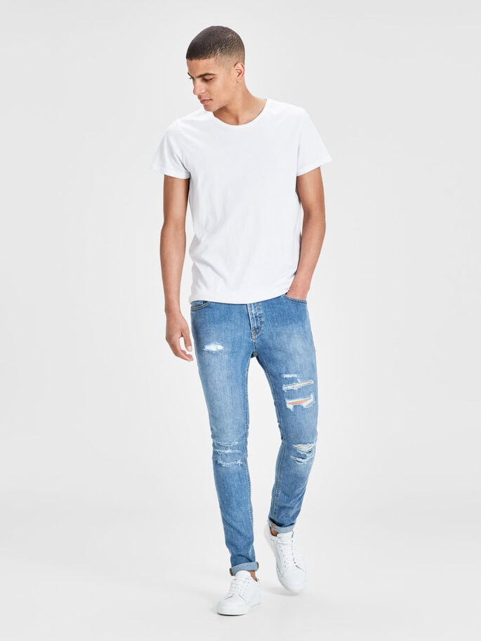 LIAM ORIGINAL AM 506 JEAN SKINNY, Blue Denim, large