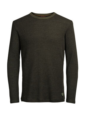 KNITTED CREW NECK SWEATSHIRT