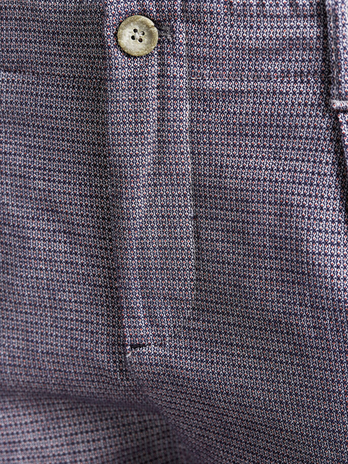 PATTERNED TAILORED TROUSERS, Dark Navy, large
