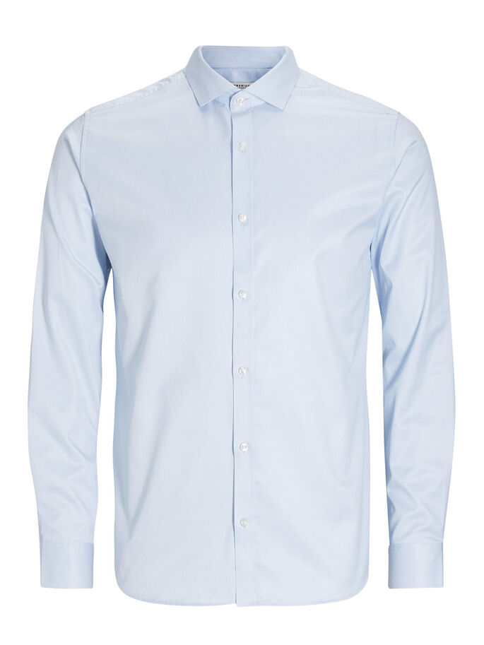 BUSINESS ZAKELIJK OVERHEMD, SHIRT BLUE, large