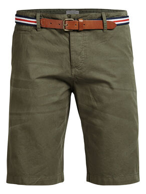 LORENZO LONG CHINO SHORTS