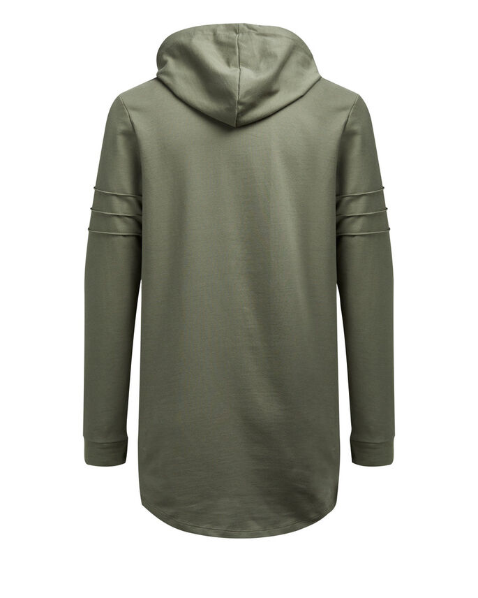 LONGER LENGTH HOODIE, Dusty Olive, large