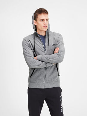 HOODED ZIP THROUGH SPORTS SWEATSHIRT