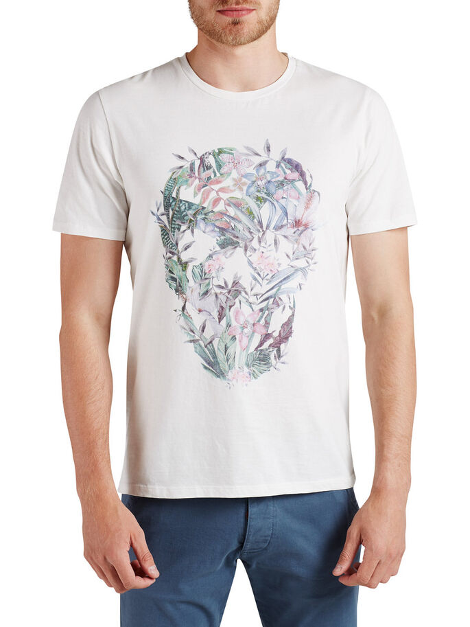 FLORAL CAMISETA, Cloud Dancer, large