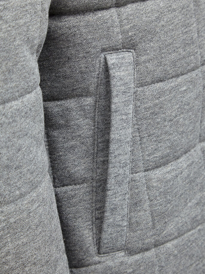 REMBOURRÉE VESTE, Light Grey Melange, large