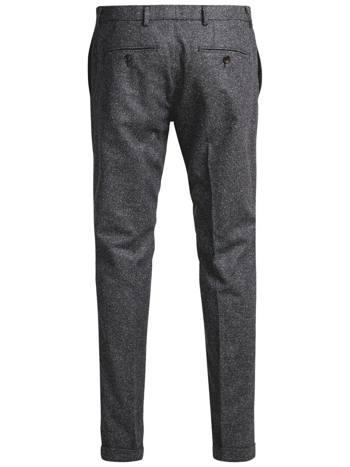 FLECKED TROUSERS, Dark Grey, large
