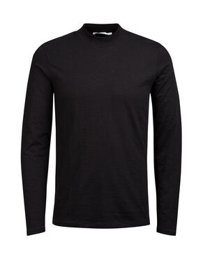 HIGH-NECK T-SHIRT MET LANGE MOUWEN