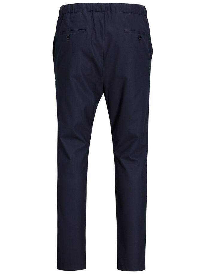 SLIM FIT TROUSERS, Dark Navy, large