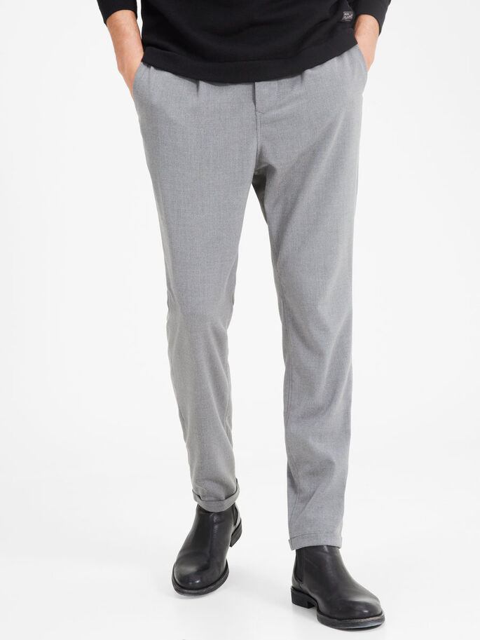 ROBERT FASH WW GREY TROUSERS, Charcoal Gray, large