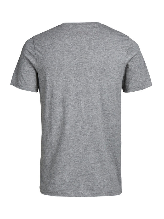 GRAFISCH T-SHIRT, Light Grey Melange, large
