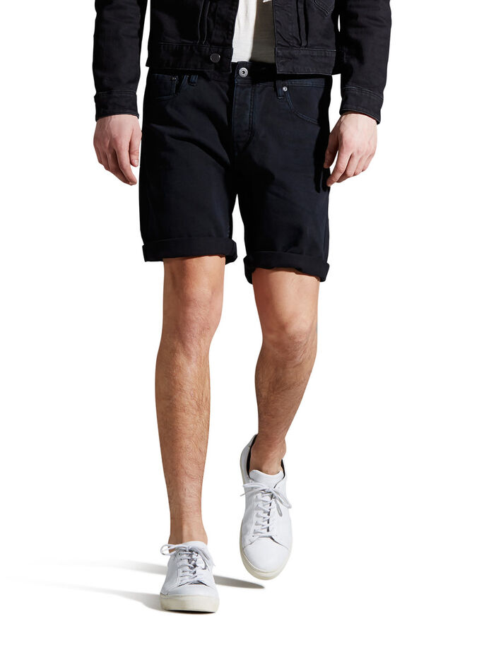 RICK ORIGINAL AKM 198 DENIM SHORTS, Black, large
