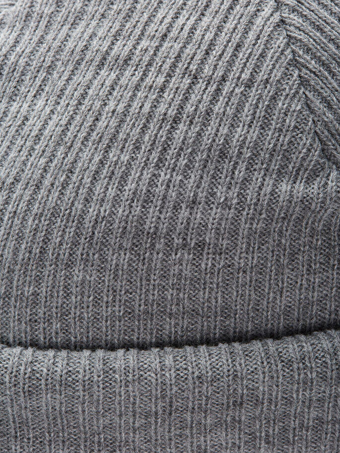 KURZE MÜTZE, Light Grey Melange, large