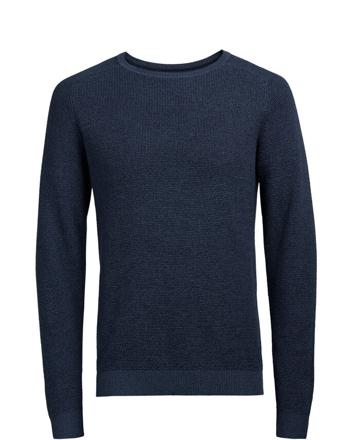 RAGLAN MELANGE- STRICKPULLOVER, Ensign Blue, large
