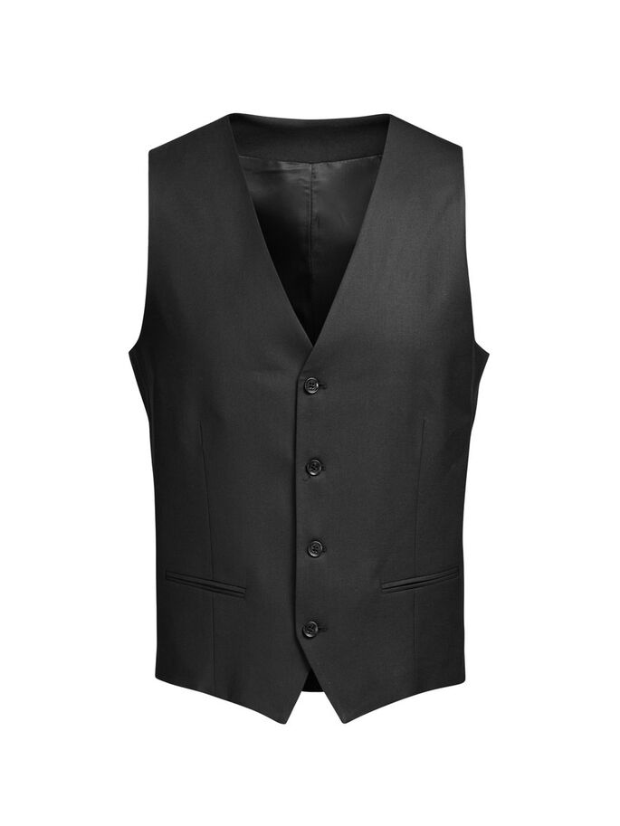 SORT VEST, Black, large