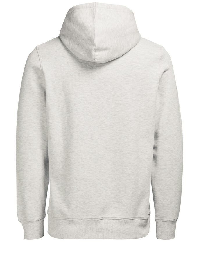 CASUAL HOODIE, Treated White, large