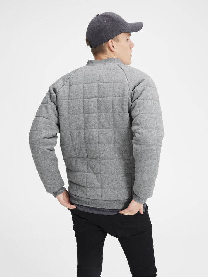 PADDED JACKET, Light Grey Melange, large