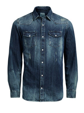 DENIM WESTERN LONG SLEEVED SHIRT