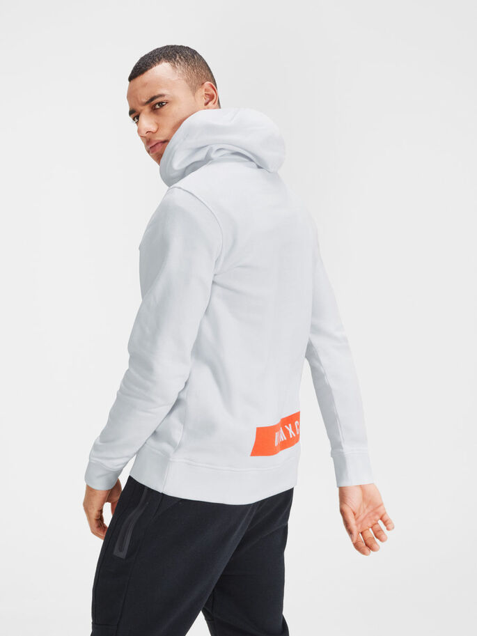 GRAPHIC HOODIE, White, large