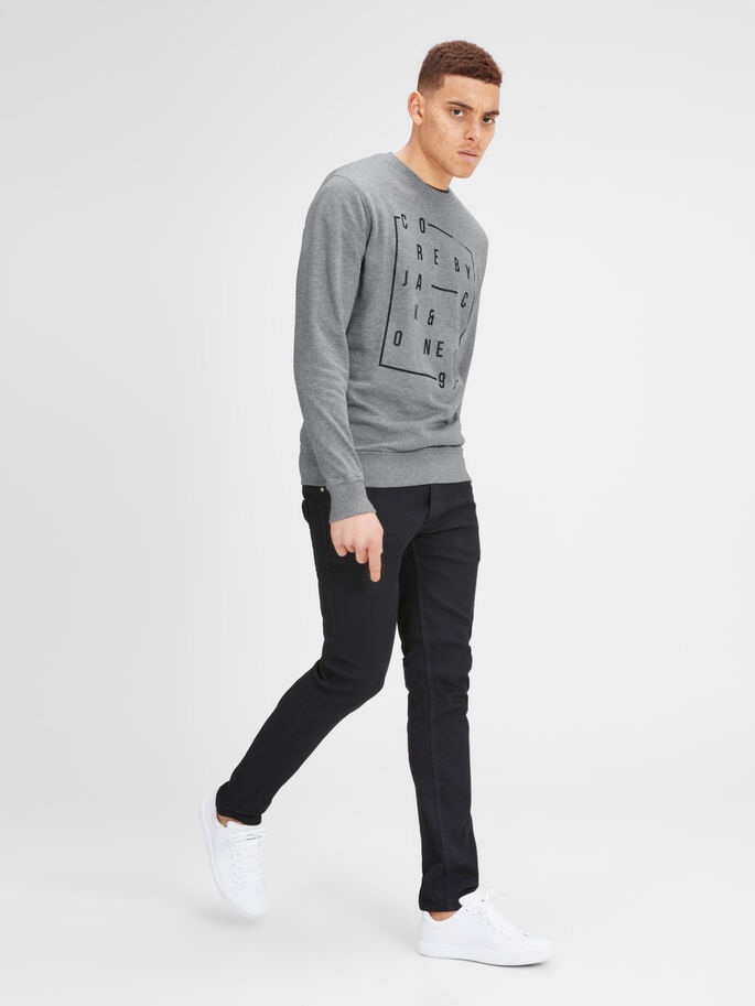 GRAFISCHE SWEATSHIRT, Light Grey Melange, large