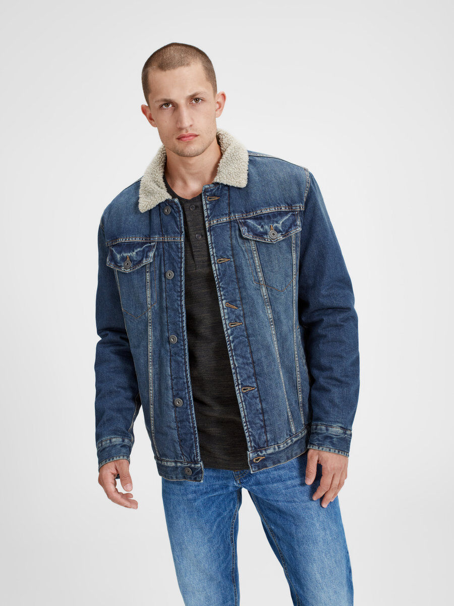 Jack & Jones Classic Denim Jacket Men blue 4jFwucN7Yc