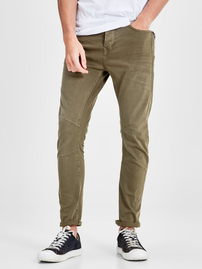 LUKE JOS 999 ANTI-FIT TROUSERS, Olive Night, large