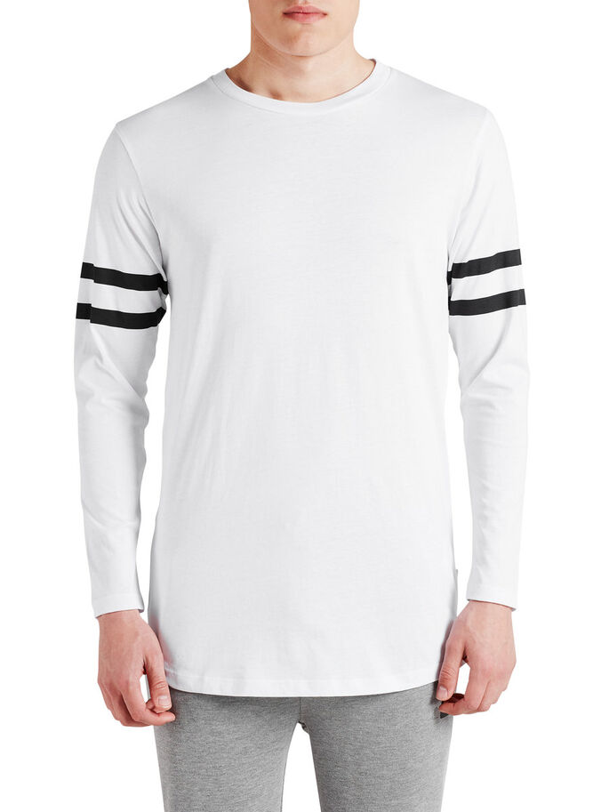 LONG SLEEVED T-SHIRT, White, large