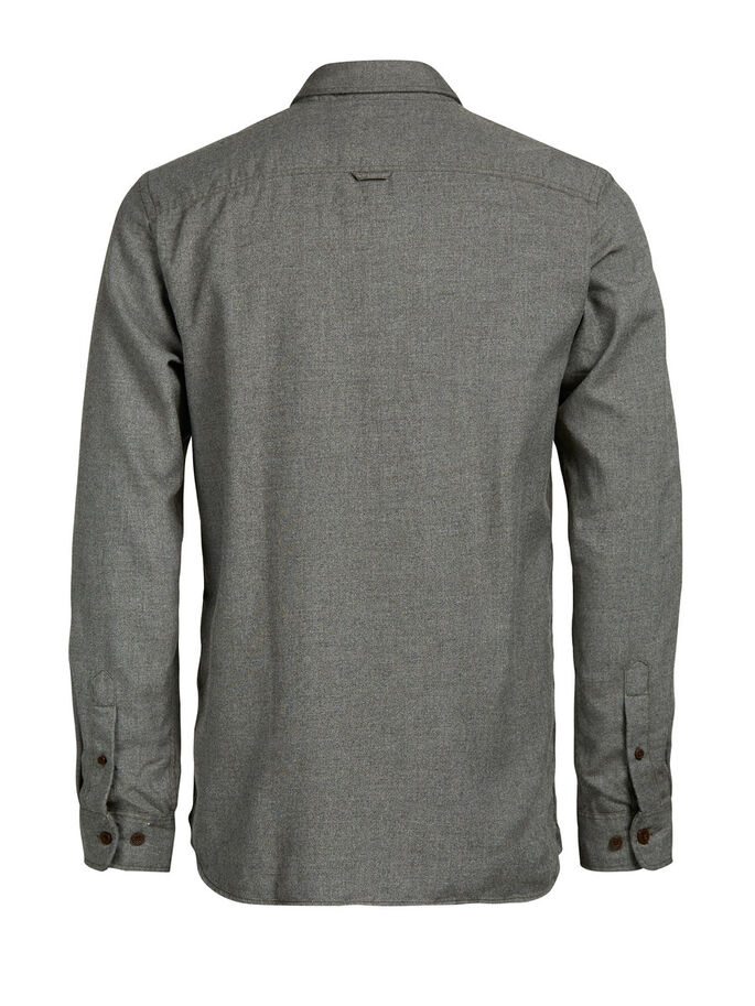 BUTTON-DOWN LONG SLEEVED SHIRT, Rosin, large