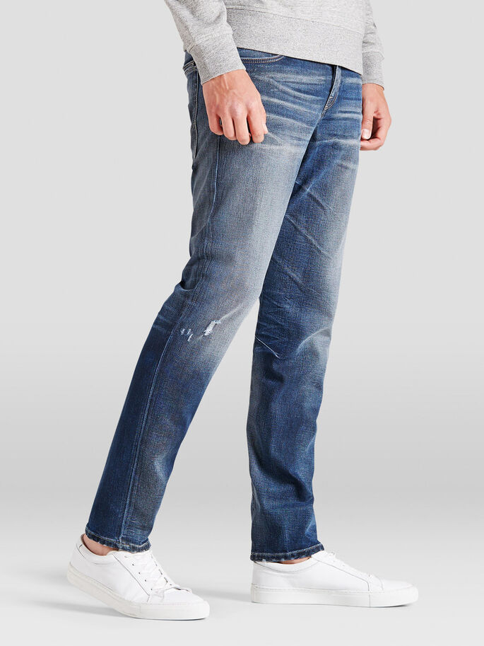 MIKE ICON JOS 364 COMFORT FIT JEANS, Blue Denim, large