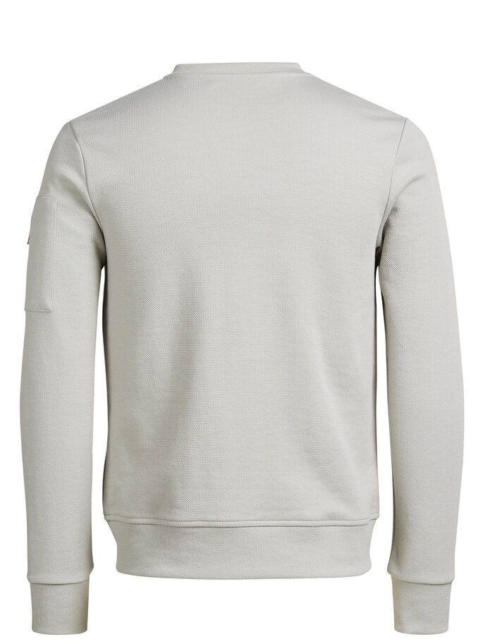 ZIP THROUGH SWEATSHIRT, Mirage Gray, large