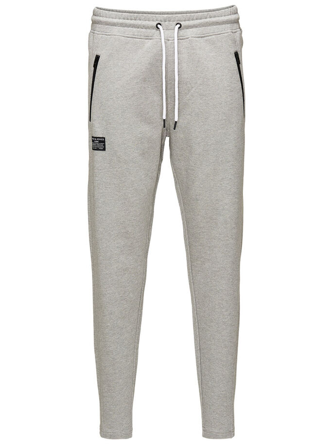 LÄSSIGER KORDELZUG SWEATHOSE, Light Grey Melange, large