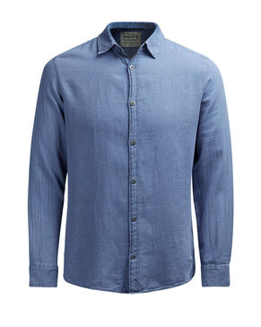 INDIGO DYED LONG SLEEVED SHIRT
