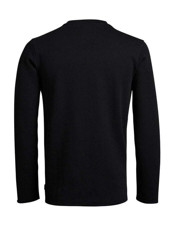 STRUCTURED SWEATSHIRT, Black, large