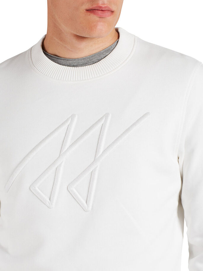 ÉPAIS SWEAT-SHIRT, Blanc de Blanc, large