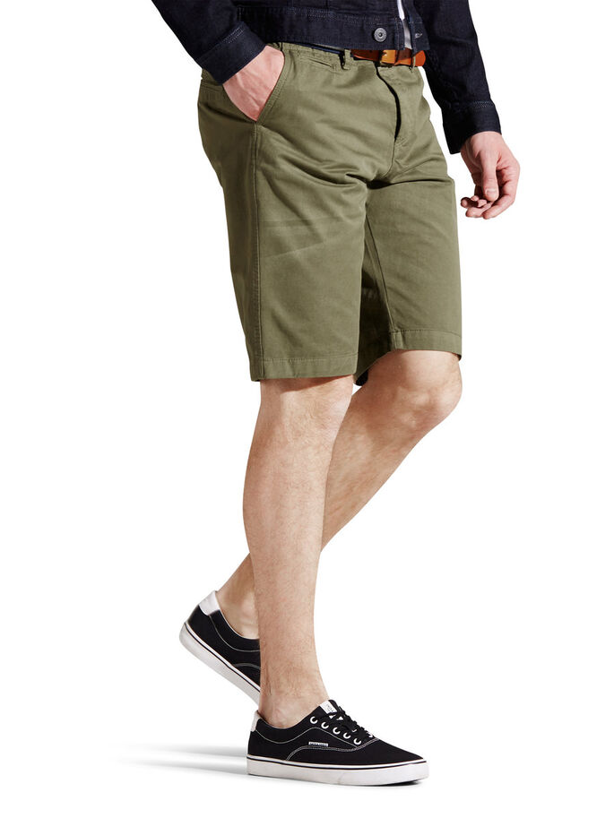 LORENZO LANGE CHINOSHORTS, Burnt Olive, large