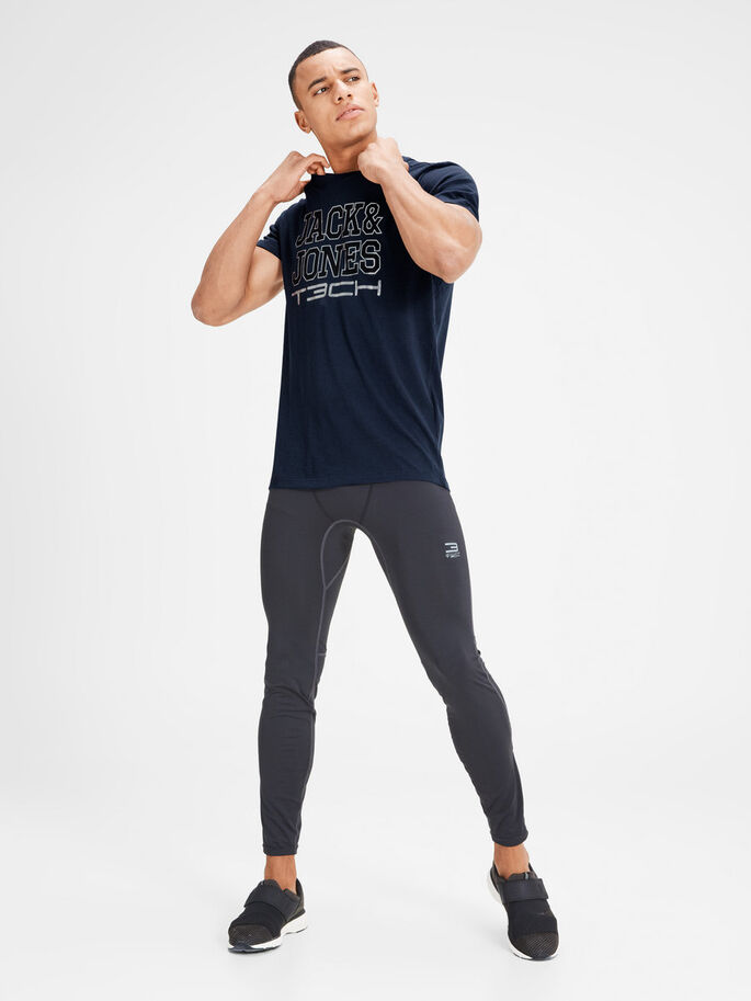 SILVER LOGO T-SHIRT, Peacoat, large