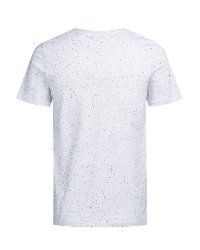 FLECKED T-SHIRT, White, large