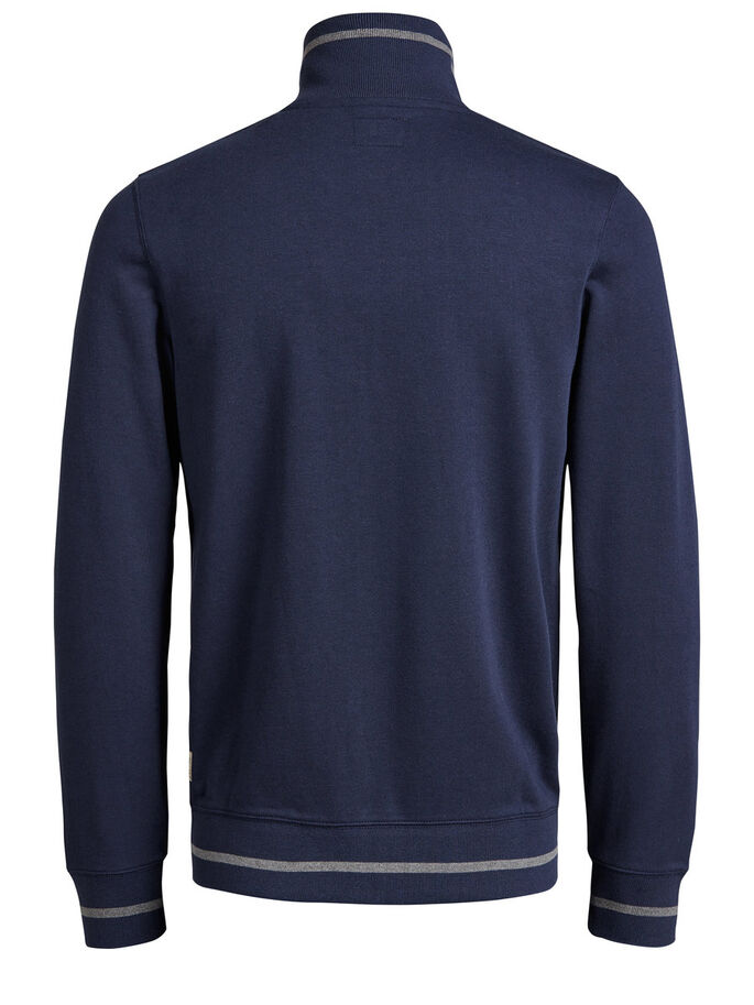 HIGH NECK ZIPPED SWEAT, Mood Indigo, large