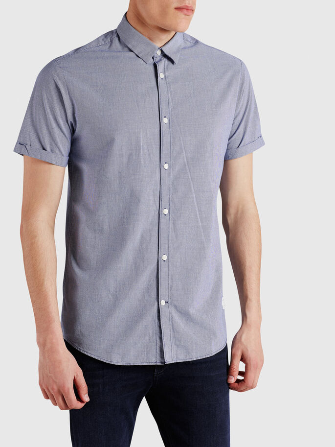 SHARP SHORT SLEEVED SHIRT, Gray Dawn, large