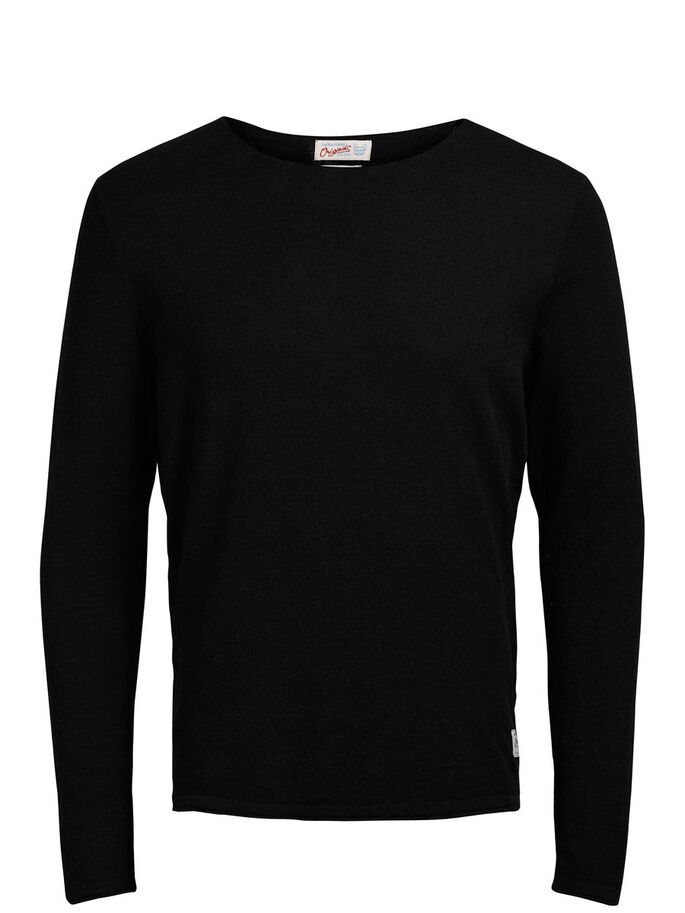 LONG FIT LICHTE TRUI, Black, large