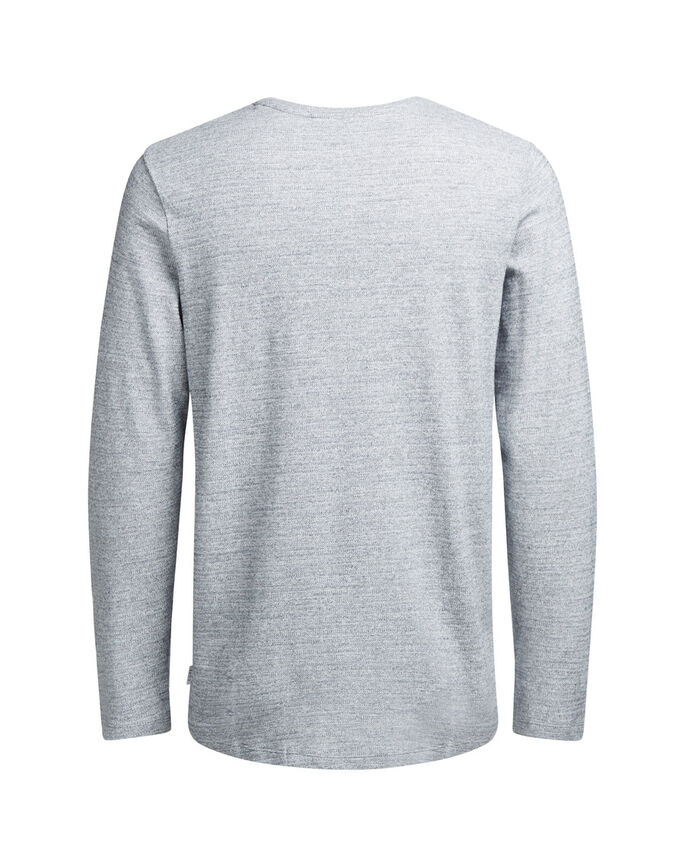 ALSIDIG LANGÆRMET T-SHIRT, Light Grey Melange, large